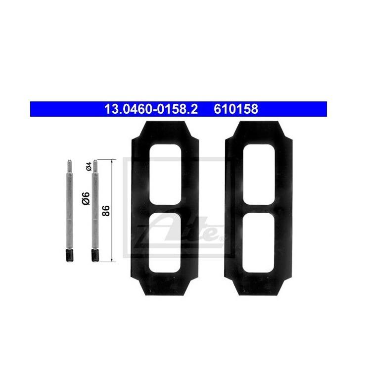 ATE Zubehör-Satz für Bremsbeläge vorne Mercedes G-Klasse T1 T1//Tn T2//Ln1