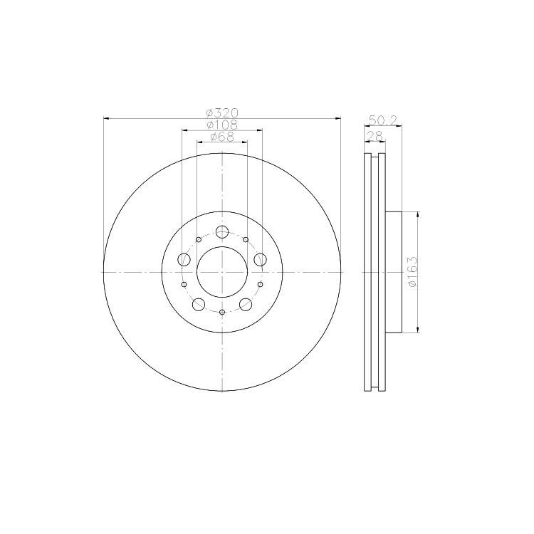 2-Discos-De-Freno-Textar-320mm-delant-Volvo-S60-S80-V70