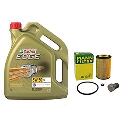 Mann Ölfilter + 5 Liter Castrol Öl 5W-30 Longlife + Febi Ablassschraube Audi Seat Skoda VW kaufen - Castrol bei Autoteile Preiswert