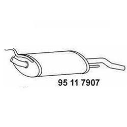 Endschalldämpfer VW Golf 3 1,6 1,8 2,0 kaufen - Eberspächer bei Autoteile Preiswert