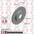 2 Zimmermann Sportbremsscheiben vorne Mercedes W202