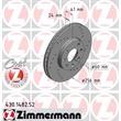 2 Zimmermann Sportbremsscheiben vorne Opel Astra G