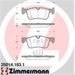 Zimmermann Bremsbeläge vorne BMW 1er F21 114 116 118 2er F22