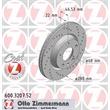 2 Zimmermann Sportbremsscheiben vorne belüftete Audi Seat Skoda VW