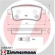 Zimmermann Bremsbeläge hinten Renault Megane Scenic CC III Fluence 1,2 - 2,0