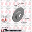 2 Zimmermann Bremsscheiben 246mm vorne Opel Agila Suzuki Wagon R+
