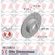 2 Zimmermann Sportbremsscheiben hinten Alfa Romeo 147 156 164 Lancia Thema