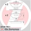 Zimmermann Bremsbeläge vorne ohne Warnkontakt Audi Seat Skoda VW