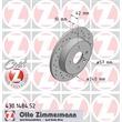 Zimmermann Sportbremsscheiben hinten Opel 4-Loch