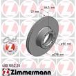 2 Zimmermann Bremsscheiben 278mm vorne Mercedes S-Klasse W116 280
