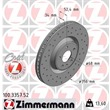 Zimmermann Sportbremsscheiben + Bremsbeläge vorne Audi A6 + Allroad für PR. Nr. 1LF