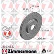 Zimmermann Sportbremsscheiben + Bremsbeläge vorne Alfa Romeo 145 146 Fiat Coupe Multipla Lancia