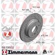 1 Zimmermann Sportbremsscheibe 150.1289.52 BMW 3er