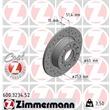 1 Zimmermann Sportbremsscheibe 600.3234.52 Audi Seat Skoda VW