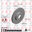 1 Zimmermann Sportbremsscheibe 400.3678.52 Mercedes A-Klasse B-Klasse Cla