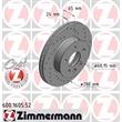 1 Zimmermann Sportbremsscheibe 600.1605.52 VW Transporter
