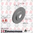 Zimmermann Bremsscheiben + Bremsbeläge vorne Honda Civic V VI + Hatchback Coupe Jazz III