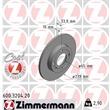 Zimmermann Bremsscheiben 239mm + Bremsbeläge vorne VW Polo 6N