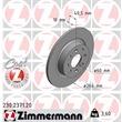 Zimmermann Bremsscheiben + Bremsbeläge hinten Fiat Punto 199 + Evo