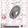 Zimmermann Bremsscheiben + Bremsbeläge hinten Honda Accord CB Rover 600