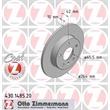 Zimmermann Bremsscheiben + Bremsbeläge VA+HA Opel Astra G Cabriolet Caravan Coupe CC Zafira A