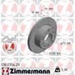 Zimmermann Bremsscheiben + Bremsbeläge vorne Citroen Fiat Peugeot