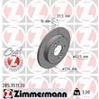 Zimmermann Bremsscheiben + Bremsbeläge hinten Hyundai i 10 Kia Picanto