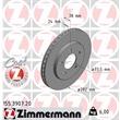 Zimmermann Bremsscheiben + Bremsbeläge vorne Chrysler Voyager GS ab ab 1999