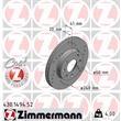 1 Zimmermann Sportbremsscheibe 430.1494.52 Opel Corsa