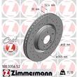 2 Zimmermann Sportbremsscheiben vorne Audi A4 A5 A6 A7 Q5