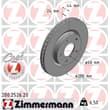 Zimmermann Bremsscheiben 280mm + Bremsbeläge vorne Nissan Juke