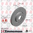 1 Zimmermann Sportbremsscheibe 100.3355.52 Audi A4 A5 A6 A7 Q5