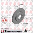 Zimmermann Bremsscheiben + Bremsbeläge vorne Honda Jazz II ab 2004