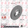 Zimmermann Bremsscheiben + Bremsbeläge vorne Ford Transit 2000-2006 Frontantrieb
