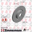 Zimmermann Bremsscheiben + Bremsbeläge vorne Alfa Romeo 147 156 ab 2001