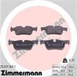 Zimmermann Bremsscheiben + Bremsbeläge hinten BMW 2er i3 X1 X2 Mini Clubman Countryman