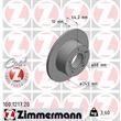 Zimmermann Bremsscheiben + Bremsbeläge hinten Audi A6 + Avant Skoda Superb VW Passat + Variant