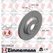 Zimmermann Bremsscheiben + Bremsbeläge hinten Audi A3 Seat Leon Skoda Superb VW CC Eos Golf