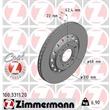 Zimmermann Bremsscheiben + Bremsbeläge hinten VW Phaeton 3D + 4motion V6 V8 PR 1KP