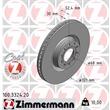 Zimmermann Bremsscheiben + Bremsbeläge vorne vorne Audi A6 4B 4,2 quattro S6