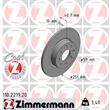 Zimmermann Bremsscheiben + Bremsbeläge hinten Alfa Romeo Mito