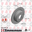 Zimmermann Bremsscheiben + Bremsbeläge VA+HA BMW 5 E39 520-525 i TD TDS D ab Bj. 10/1996