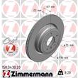 Zimmermann Bremsscheiben + Bremsbeläge hinten BMW E90 320 325