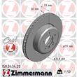 Zimmermann Bremsscheiben + Bremsbeläge vorne BMW E60 525 530 540