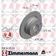 Zimmermann Bremsscheiben + Bremsbeläge hinten BMW Z4 2,0 2,2 2,5