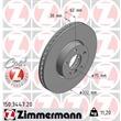 Zimmermann Bremsscheiben + Bremsbeläge vorne BMW X5 E70 F15 X6 E71 F16