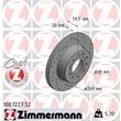 Zimmermann Sportbremsscheiben + Bremsbeläge hinten Audi 100 A6 V8