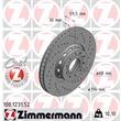 1 Zimmermann Sportbremsscheibe 100.1231.52 Audi 100 A6 A8