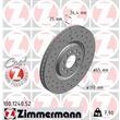 1 Zimmermann Sportbremsscheibe 100.1240.52 Audi Seat Skoda VW