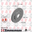 1 Zimmermann Sportbremsscheibe 100.1241.52 Audi Seat Skoda VW
